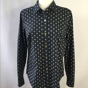 Náutica Women's Button Down Collar Shirt Size L